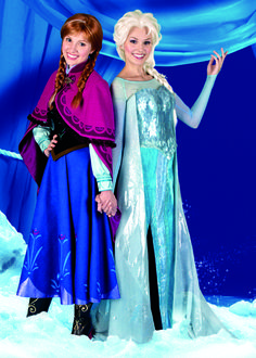 Anna and Elsa characters coming to the Disney Parks in celebration of upcoming Disney's FROZEN Frozen Cosplay, Elsa Cosplay, Frozen Costume, Disneyland Face Characters, Disney Face Characters, Disney Love, Disney Magic, Walt Disney, Disney Stuff