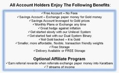All Karatbars account holders enjoy the following benefits - You too could be part of it and it's free to join on : http://www.karatbars.com/landing/?s=ewise10