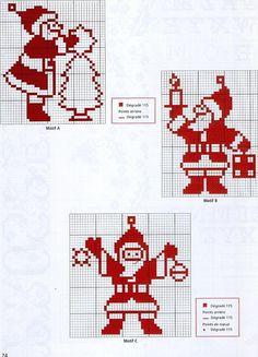 Kertmannen. Santa Cross Stitch, Mini Cross Stitch, Cross Stitching, Cross Stitch Embroidery, Cross Stitch Designs, Cross Stitch Patterns, Wool Applique Patterns, Theme Noel, Christmas Embroidery