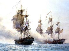 Golden Age Of Piracy, Old Sailing Ships, Sailing Boat, Ship Of The Line, Man Of War, Ship Paintings, Naval History, Nautical Art, Tug Boats