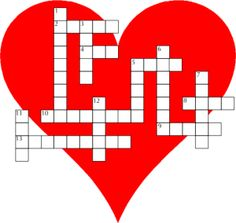 6 Best Images of Cross Word Puzzle Printable Valentine Day - Valentine Day Word Crossword Puzzles, Valentine's Day Crossword Puzzles Worksheets and Day Valentine Free Printable Crosswords Puzzles Valentines Day Words, Valentines Games, Valentine Activities, Valentine Crafts For Kids, Be My Valentine, Printable Valentine, Holiday Crafts, Word Puzzles Printable, Word Puzzles For Kids