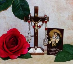 Unbreakable Catholic Relic Chaplet of St. Catherine of Siena - Patron Saint of Nurses, Firefighters and Against Illness & Miscarriages by foodforthesoul on Etsy