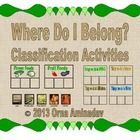 Here are 7 classification activities to support the following Science units:  (ELA-Literacy/SL/K/2) Animals/Habitats Transportation Nutrition and W...