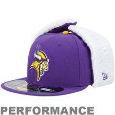 New Era Minnesota Vikings Dog Ear Flap Hat New Era Beanie 2151eb6b2