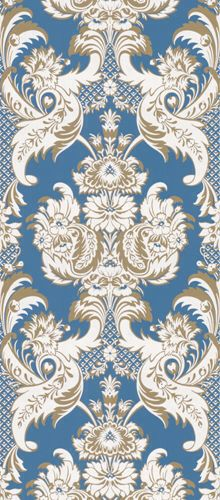 Wyndham by Cole & Son Blue wallpaper Damask Wallpaper, More Wallpaper, Designer Wallpaper, Pattern Wallpaper, White Wallpaper, Textile Prints, Textile Patterns, Textile Design, Textiles