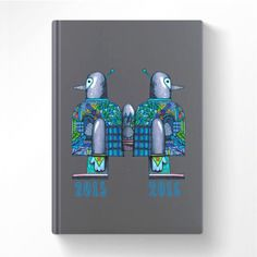 """Agenda 2015-16 motif """"robots au garde à vous"""" Cam LE MAC'"""