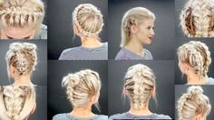 This truly is brilliant using pull through braids - lots of elastic! | 10 FAUX BRAIDED SHORT HAIRSTYLES | Milabu - YouTube