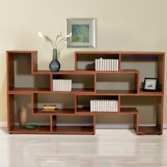 Jesper Storage Wall Unit - Cherry. U didn't think to pull these units apart slightly. That gives it a different look, spread it out to fill the space, and more storage to boot!