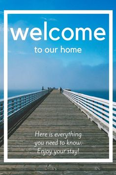 Modern Welcome Book -- 6 Page Vacation Home Printable Template, Airbnb House Manual, Printable, Beach Rental - Edit online with Corjl
