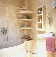Dar Beida - Moroccan Bathroom  #bathroom #moroccan #bathtub