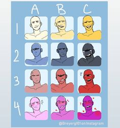 Here's the Expression chart I made! :3 Tag me if you use! - - - #expressionmeme #art