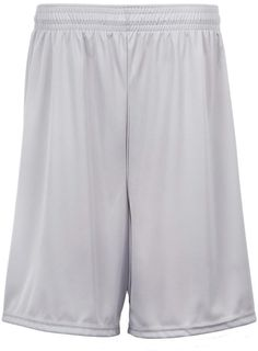 "c2 sport adult 9"" performance shorts - silver (s)"
