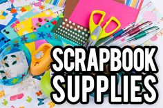 Dive into the world of scrapbook supplies. Paper, ribbons, stickers, oh my!