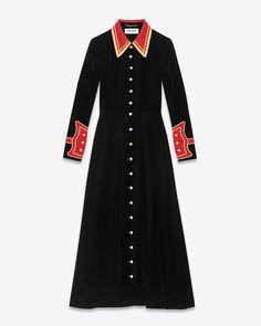 オンラインでショッピング。YSL.comでもっとSaint Laurentのロングドレスをご覧ください。