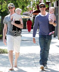 Proud papas Neil Patrick Harris and David took a stroll on their very first Father's Day with Gideon and Grace.