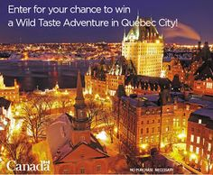 Win 5 Days of Food & Fun in Québec City!
