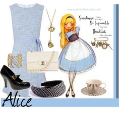 Alice In Wonderland, created by annmarie0697  This set is part of my Disney Princesses collection.
