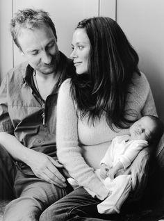 Anna Friel, David Thewlis & baby girl