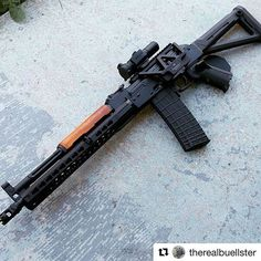 #Repost @therealbuellster with @repostapp ・・・ New MI mount with vortex sparc2 and 3X magnifier. Weight unloaded is 8.5lbs. Anyone make a PSL length cheese-grater upper handguard? #ak47 #akm #223 #556 #556x45 #dissipator #ar15 #ak_all_day #combatcustoms #allblackriflesmatter #allgunlawsareinfringements #everygunlawisaninfringement