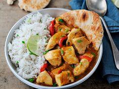 Découvrez la recette Poulet indien sur cuisineactuelle.fr.