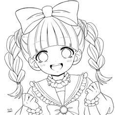 "Rira🐱 on Twitter: ""前髪差分で4枚あるだけ( ˘ω˘ ) #線画を晒すと誰かが色を塗ってくれるかもしれない #オリジナルイラスト #塗り絵 #フリー線画… "" Anime Drawing Books, Drawing Cartoon Faces, Anime Drawing Styles, Anime Character Drawing, Art Drawings Sketches Simple, Kawaii Drawings, Cute Drawings, Manga Coloring Book, Coloring Books"