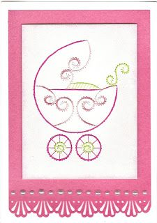 Love this...Stitched baby card