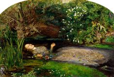 "One of the famous painting of Ophelia drowning in Hamlet Act IV, Scene VII by British artist Sir John Everett Millais, completed between 1851 and Hoe, Ellen. ""The Meaning Of 'Ophelia' By John Everett Millais. Dante Gabriel Rossetti, Google Art Project, William Blake, William Morris, William Hughes, John Everett Millais Ophelia, Ophelia Painting, Elizabeth Siddal, Art History"