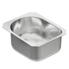 """15"""" x 18.5"""" stainless steel 18 gauge single bowl sink"""