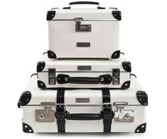 Classy White Luggage by Globe-Trotter & Etiquette Clothiers
