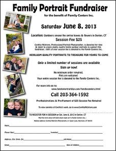 family portrait fundraiser... GREAT idea... I TRULY have to start getting more involved in local fundraising efforts.