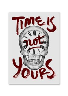 Time is not yours by Ales Santos, via Behance