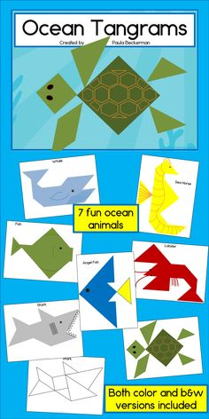 "What a fun activity for my ""Under the Sea"" theme!  I'm going to use these to teach shapes.  I love that they're NO PREP!  $"