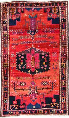 Home Chic Raleigh - Persian rug, bright colored rug, pink and orange rug, pink orange black purple rug, patterned rug, persian rug