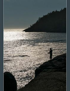 Ocean Shore Fishing, East Sooke Park, Becher Bay Indian Reserve 1, British Columbia, Canada