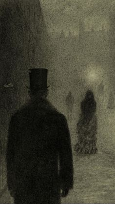 "thisobscuredesireforbeauty: "" Illustration by Angela Barrett for Dr Jekyll & Mr Hyde by Robert Louis Stevenson. Gothic Horror, Arte Horror, Gothic Art, Dark Fantasy, Fantasy Art, Jekyll And Mr Hyde, Art Manga, Georges Seurat, Arte Obscura"