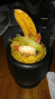 Mofongo a  Puerto Rican delight! (Garlic-Flavored mashed plantains)