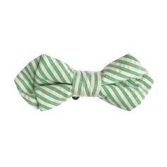 Boys  bow tie in seersucker  Cute Outfits For Kids f8ba9fd403b9