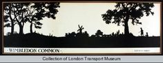 Wimbledon Common poster from London Transport Museum.