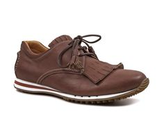 Car Shoe men Espresso Prestige calf leather lace-up - Italian Boutique €224