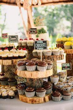 flavored cupcakes wedding dessert ideas / http://www.deerpearlflowers.com/rustic-wedding-cupcakes-stands/