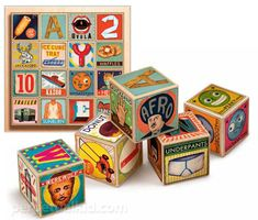 XYZ alphabet blocks at Perpetual Kid | Cool Mom Picks
