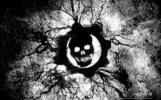 Gears Of War - Logo Black & White #GOW