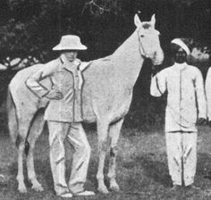 Winston Churchill with his polo horse in india in 1897