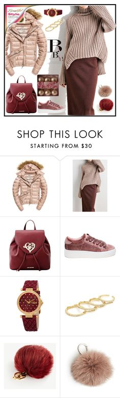 """""""GROOVY BABY!!!"""" by kskafida ❤ liked on Polyvore featuring Fuji, Love Moschino, Steve Madden, bürgi, Fallon, Ann Taylor, Etienne Aigner and November"""