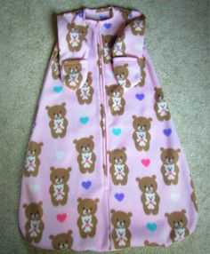 A personal favorite from my Etsy shop https://www.etsy.com/listing/543127903/pink-baby-sleep-sack-baby-sleeper-baby