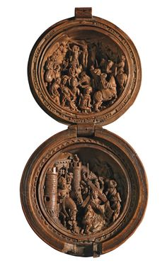Intricately Carved 16-Century Prayer Nuts Open to Reveal Incredibly Detailed…