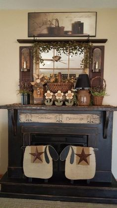 Country Craft Home Decor. Decor Strategies The Pros Do Not Want You To Find out decor farmhouse decor living room decor rustic decor ideas Primitive Homes, Primitive Fireplace, Primitive Living Room, Primitive Decor, Primitive Country Decorating, Primitive Painting, Prim Decor, Primitive Kitchen, Arte Country