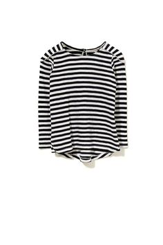 cotton on kids | striped top with shoulder panel