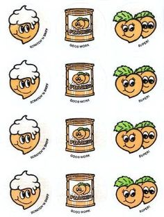 Peach CTP scratch and sniff stickers - 1980's. Had this too.