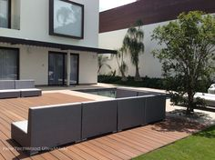 NewTechWood® is a pioneer in the development and manufacture of composite decking boards. We have earned a worldwide reputation for innovative wood plastic composite materials. Composite Decking, Patio, Composition, Flooring, Wood, Places, Outdoor Decor, Mexico, Boards